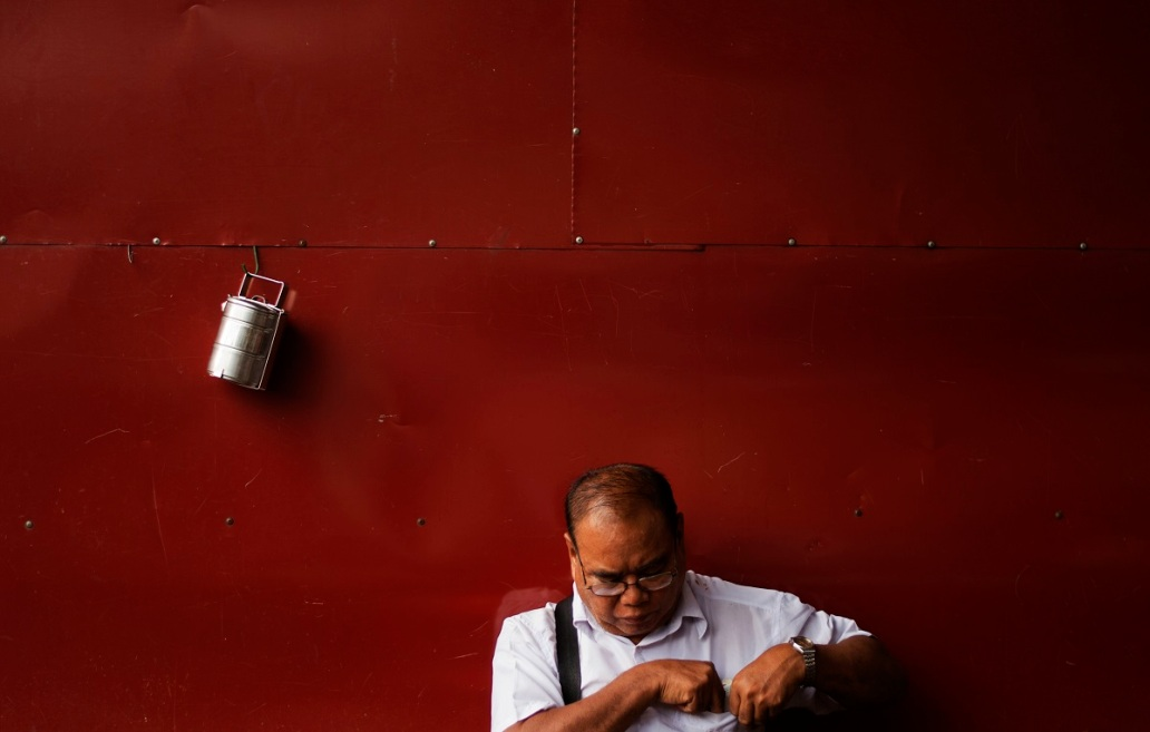 red wall man myanmar